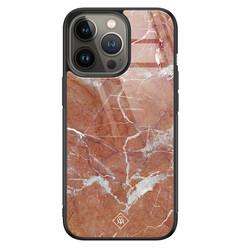 Casimoda iPhone 13 Pro glazen hardcase - Marble sunkissed