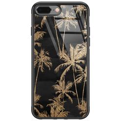 Casimoda iPhone 8 Plus/7 Plus glazen hardcase - Palmbomen