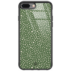 Casimoda iPhone 8 Plus/7 Plus glazen hardcase - Green dots