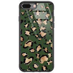 Casimoda iPhone 8 Plus/7 Plus glazen hardcase - Luipaard groen