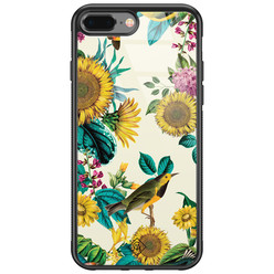 Casimoda iPhone 8 Plus/7 Plus glazen hardcase - Sunflowers