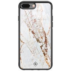 Casimoda iPhone 8 Plus/7 Plus glazen hardcase - Marmer goud