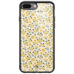 Casimoda iPhone 8 Plus/7 Plus glazen hardcase - Yellow garden