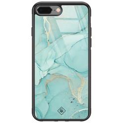 Casimoda iPhone 8 Plus/7 Plus glazen hardcase - Touch of mint