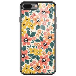 Casimoda iPhone 8 Plus/7 Plus glazen hardcase - Blossom