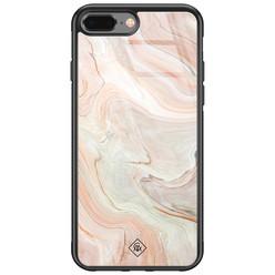 Casimoda iPhone 8 Plus/7 Plus glazen hardcase - Marmer waves
