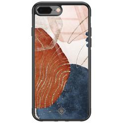 Casimoda iPhone 8 Plus/7 Plus glazen hardcase - Abstract terracotta