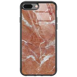 Casimoda iPhone 8 Plus/7 Plus glazen hardcase - Marble sunkissed