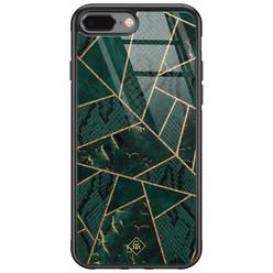 Casimoda iPhone 8 Plus/7 Plus glazen hardcase - Abstract groen