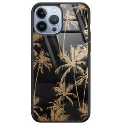 Casimoda iPhone 13 Pro Max glazen hardcase - Palmbomen