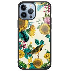Casimoda iPhone 13 Pro Max glazen hardcase - Sunflowers