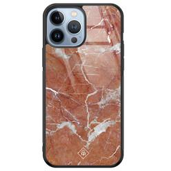 Casimoda iPhone 13 Pro Max glazen hardcase - Marble sunkissed