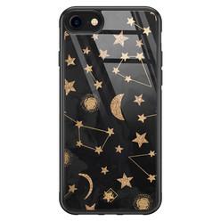 Casimoda iPhone SE 2020 glazen hardcase - Counting the stars