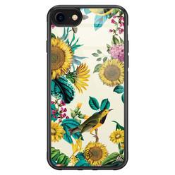 Casimoda iPhone SE 2020 glazen hardcase - Sunflowers
