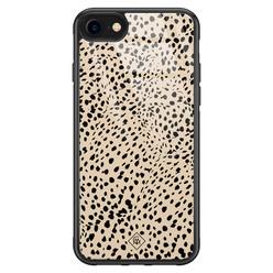 Casimoda iPhone SE 2020 glazen hardcase - Spot on