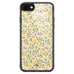 Casimoda iPhone SE 2020 glazen hardcase - Yellow garden