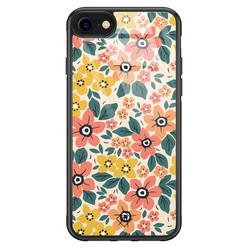 Casimoda iPhone SE 2020 glazen hardcase - Blossom