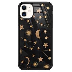 Casimoda iPhone 11 glazen hardcase - Counting the stars