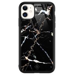 Casimoda iPhone 11 glazen hardcase - Marmer zwart