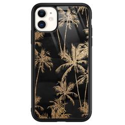 Casimoda iPhone 11 glazen hardcase - Palmbomen