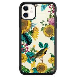 Casimoda iPhone 11 glazen hardcase - Sunflowers