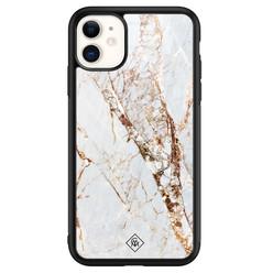 Casimoda iPhone 11 glazen hardcase - Marmer goud
