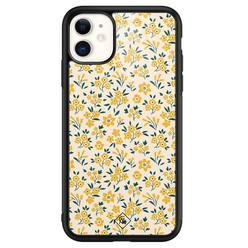Casimoda iPhone 11 glazen hardcase - Yellow garden
