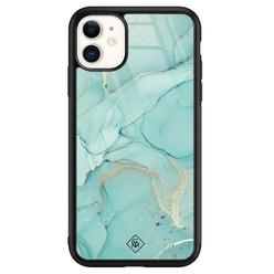 Casimoda iPhone 11 glazen hardcase - Touch of mint