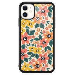 Casimoda iPhone 11 glazen hardcase - Blossom