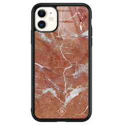 Casimoda iPhone 11 glazen hardcase - Marble sunkissed