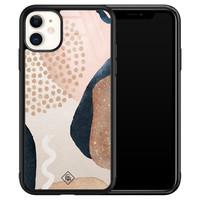 Casimoda iPhone 11 glazen hardcase - Abstract dots