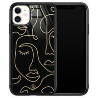 Casimoda iPhone 11 glazen hardcase - Abstract faces