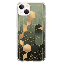 Casimoda iPhone 13 mini siliconen hoesje - Kubus groen