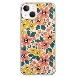 Casimoda iPhone 13 mini siliconen hoesje - Blossom