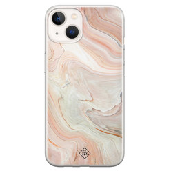 Casimoda iPhone 13 mini siliconen hoesje - Marmer waves