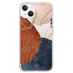 Casimoda iPhone 13 mini siliconen hoesje - Abstract terracotta