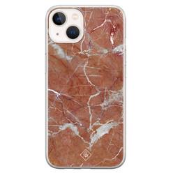 Casimoda iPhone 13 mini siliconen hoesje - Marble sunkissed