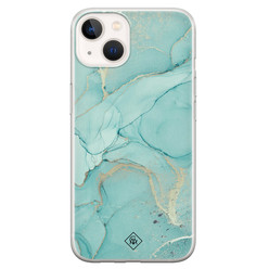 Casimoda iPhone 13 mini siliconen hoesje - Touch of mint