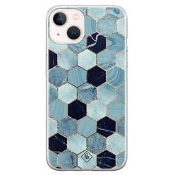 Casimoda iPhone 13 mini siliconen hoesje - Blue cubes