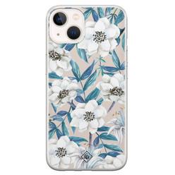 Casimoda iPhone 13 mini siliconen hoesje - Touch of flowers