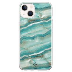 Casimoda iPhone 13 mini siliconen hoesje - Mamer azuurblauw