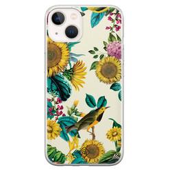Casimoda iPhone 13 mini siliconen hoesje - Sunflowers