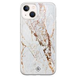 Casimoda iPhone 13 mini siliconen hoesje - Marmer goud