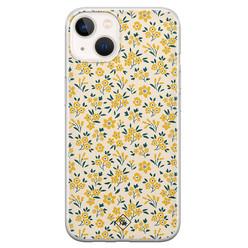 Casimoda iPhone 13 mini siliconen hoesje - Yellow garden