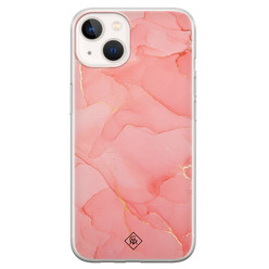 Casimoda iPhone 13 mini siliconen hoesje - Marmer roze