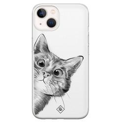 Casimoda iPhone 13 mini siliconen hoesje - Peekaboo