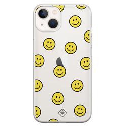 Casimoda iPhone 13 mini siliconen hoesje - Smileys