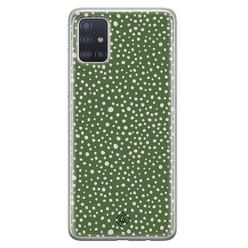 Casimoda Samsung Galaxy A71 siliconen hoesje - Green dots