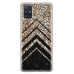 Casimoda Samsung Galaxy A71 siliconen hoesje - Chevron luipaard