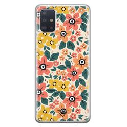 Casimoda Samsung Galaxy A71 siliconen hoesje - Blossom